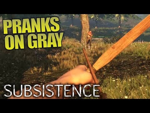 PRANKS ON GRAY & TALKING SURVIVAL GAMES   Subsistence   Let's Play Multiplayer Gameplay   S02E06
