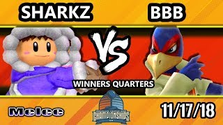 DHATL18 SSBM - BBB (Falco) Vs. Sharkz (Ice Climbers) - Smash Melee Winners Quarters
