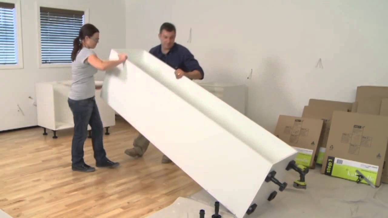& 450mm pantry assembly | kaboodle kitchen - YouTube