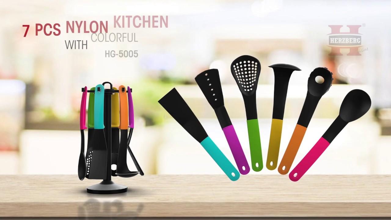 Herzberg Hg 5005 7p Nylon Kitchen Utensil From Wholesale