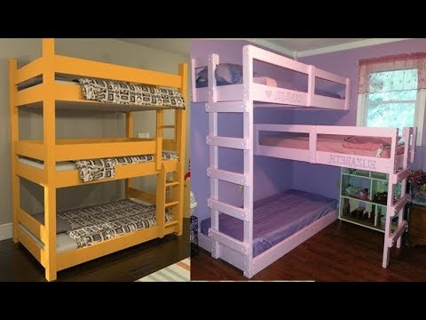 3 Triple Bunk Beds For Kids// Bunk Bed Design Ideas For 3 Ki