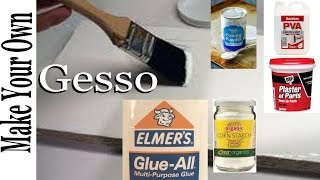 How to Make Homemade Gesso Acrylic painting