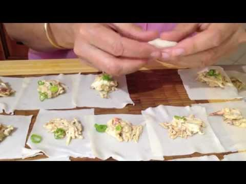Fresh Crab Steamed Wontons Thermochef Video Recipe