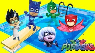 PJ Masks Swimming Pool Adventure with Catboy Owlette Gekko