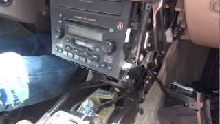 gta car kits acura tl or cl 2000 2003 install of iphone ipod and aux adapter for factory stereo