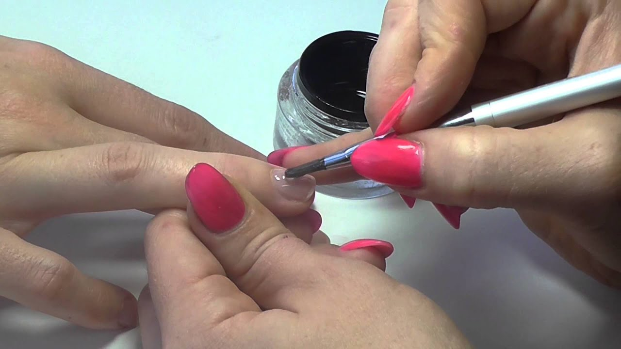 Nail Tutorial: Hard Gel Overlay - YouTube