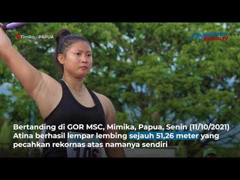 Pecahkan Rekor Berusia 21 Tahun, Atina Dulang Emas Lempar Lembing Putri PON XX Papua
