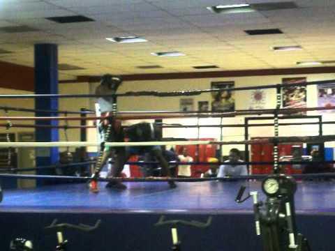 cj sparring at SRL