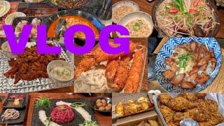 [고시원 먹방 브이로그] 입맛 (쪼끔)없는 고시원러의 일상 브이로그(국밥, 항정살 덮밥, 홍콩반점, 고추바사삭, 맥치킨, 육회, 닭구이, 새우튀김, 새우버거)