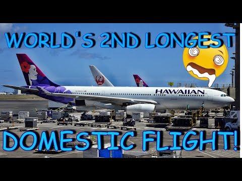 HAWAIIAN AIRLINES   HONOLULU - NEW YORK JFK   ECONOMY CLASS   AIRBUS A330