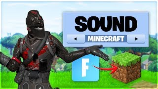 Fortnite but with Minecraft sounds
