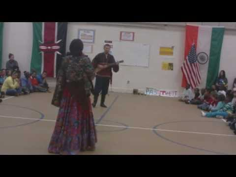 Russian dance music High Point NC school assembly
