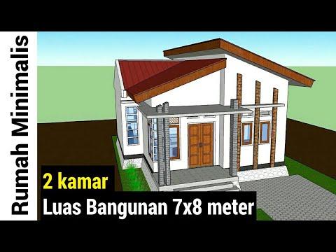 Desain Rumah Minimalis Luas Tanah 72  desain rumah 7x8 meter