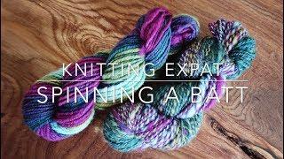 Spinning A Batt - Knitting Expat