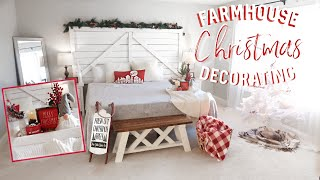 FARMHOUSE CHRISTMAS DECORATE WITH ME | FARMHOUSE BEDROOM DECOR| COZY CHRISTMAS DECORATING IDEAS 2019