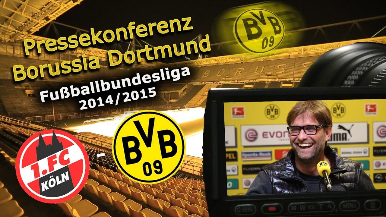 1. FC Köln - Borussia Dortmund: Bundesliga-Pk mit Jürgen Klopp