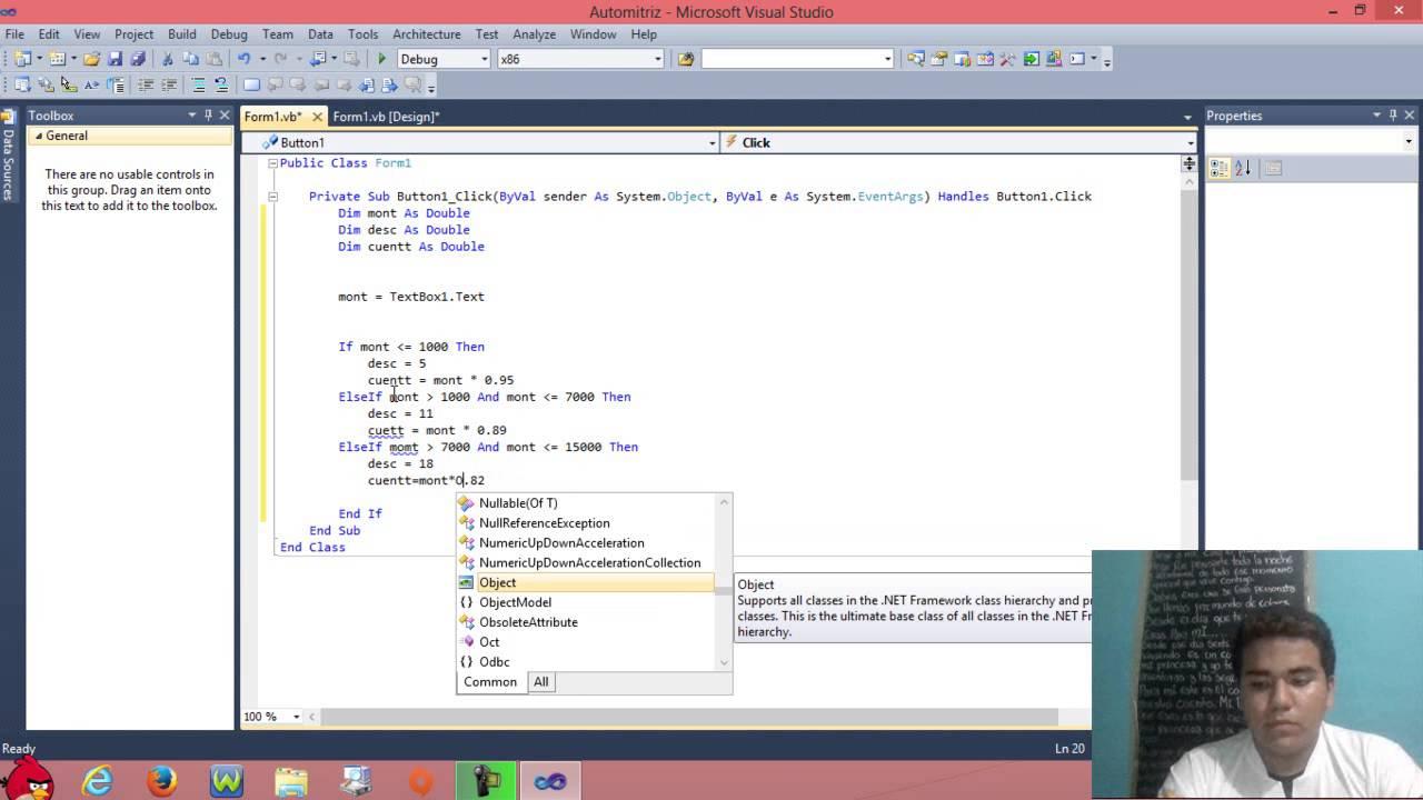 Visual Basic Ejercicio Con Textbox Y Button Calculo