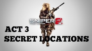 Sniper: Ghost Warrior 2 - All Secret Locations -Act 3- In Search of Enlightenment Trophy/Achievement