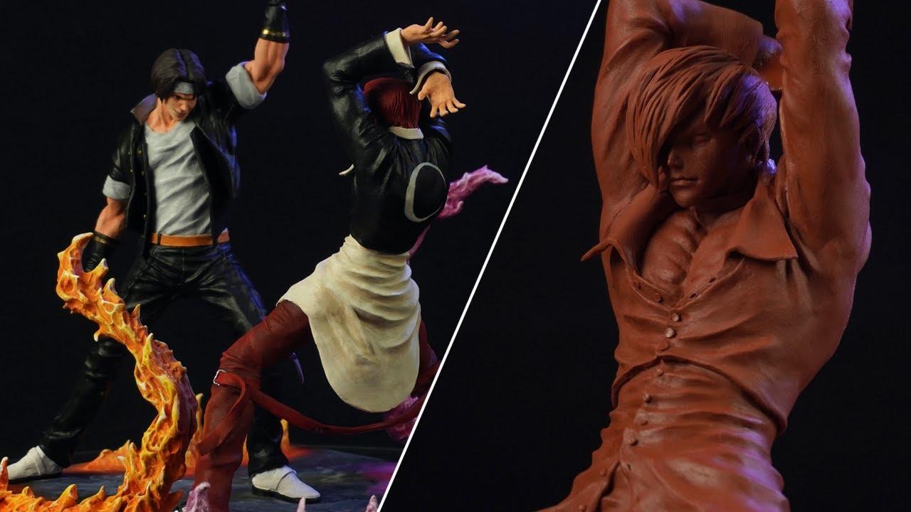 Sculpting Kyo VS Iori Diorama | The King Of Fighters (八神庵 - 草薙 京)