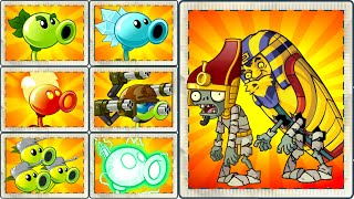 Plants vs Zombies 2 Ultimate Power UP Teams Power Up Vs Pharaoh Zombie from Ancient Egypt in PVZ 2