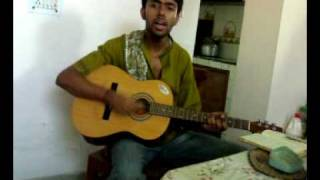 Prithibita naki (Bengali version of Bheegi Bheegi) on guitar with chords