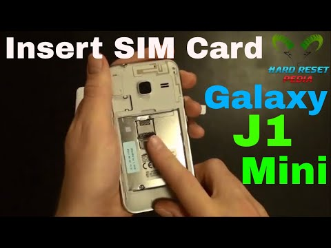 Galaxy J1 Mini Insert The SIM Card