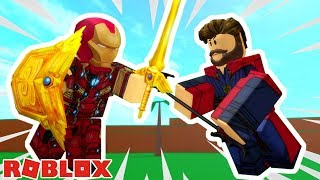 IRON MAN VERSUS DOCTOR STRANGE! / Roblox: 2 Player Superhero Tycoon