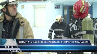 Moarta in casa, descoperita de pompierii fagaraseni