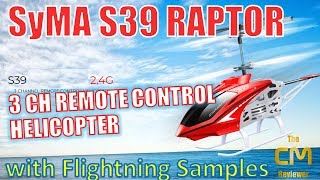 SYMA S39  RAPTOR Test: Remote Helicopter Hands-on (Deutsch, engl. hi...