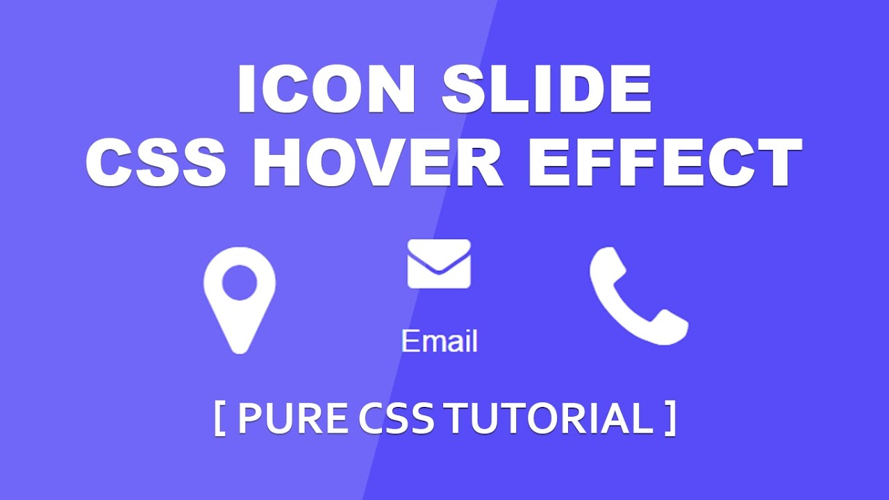 Icon Slide Hover Effect - Simple Css Hover Effect Tutorial