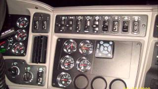 kenworth 2010 t2000 interior.wmv