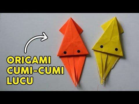AYO BELAJAR MEMBUAT ORIGAMI CUMI-CUMI/GURITA/OCTOPUS MUDAH BANGET   Tutorial Wow