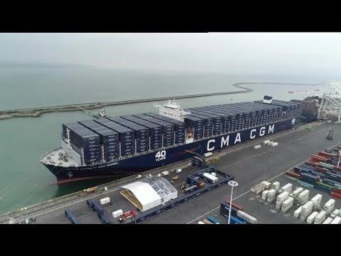 Le Havre : l'arrivée du plus grand porte-conteneurs français