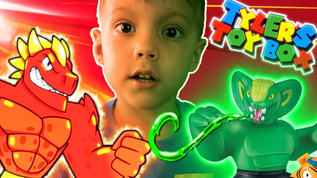SUPA GOO BLAZAGON Heroes of Goo Jitzu Unboxing Viper and Tygor Toys TyGoo