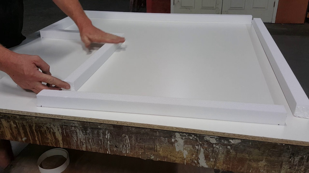 How to make a small concrete countertop form with foam for Foam forms for concrete