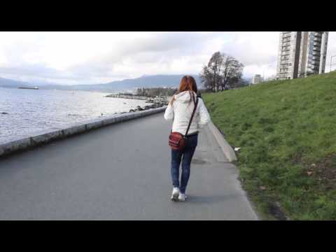 Walking in Downtown Vancouver BC Canada - ENGLISH Bay - Lots of People - February 2016