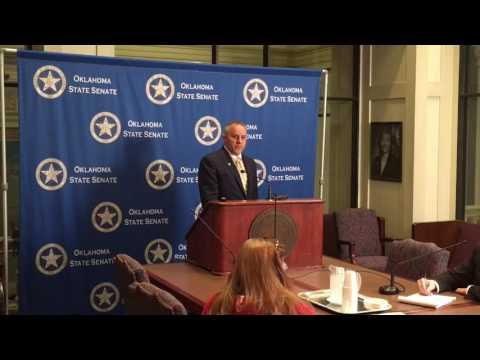 Oklahoma Senate: Pro Tem press briefing 5/12/17
