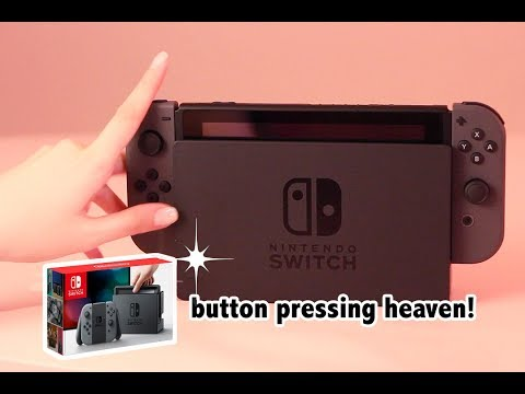 Nintendo Switch Unboxing (ASMR Controller sounds/packaging/no speaking)