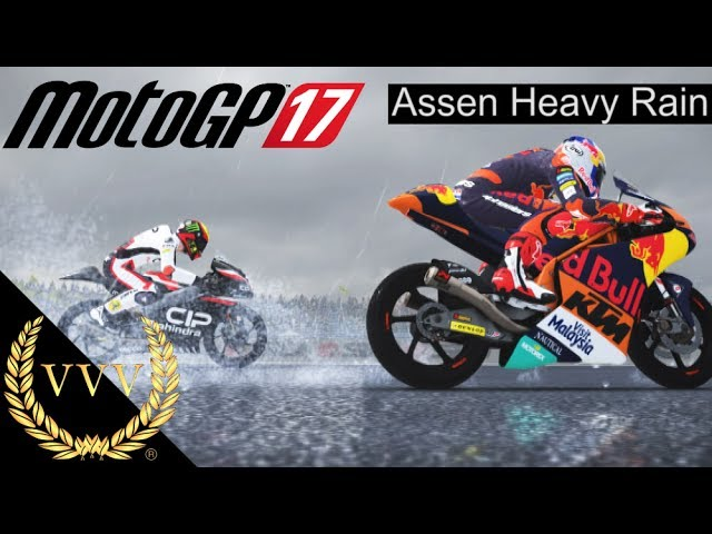 MotoGP 17 - Assen Heavy Rain Moto 3 Gameplay