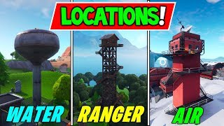 """Dance on top of a WATER TOWER, RANGER TOWER & AIR TRAFFIC Control Tower"" LOCATION GUIDE Fortnite"