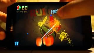 Fruit Ninja Classic on Samsung Galaxy Note