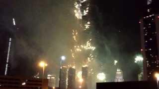 #Dubai Burj khalifa 2014 celebration new year