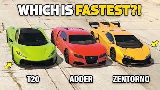 Gta 5 Online   Adder Vs T20 Vs Zentorno (which Is Fastest?)