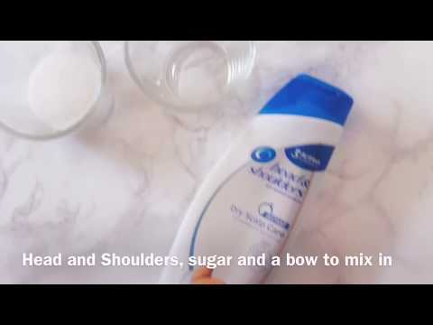 How to make slime with head and Shoulders!! 2 ingredient slime!! No glue, no borax!