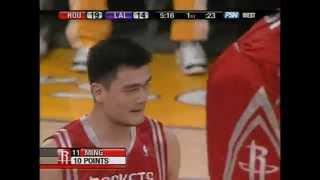 Yao ming - rockets at lakers - 3/30/07