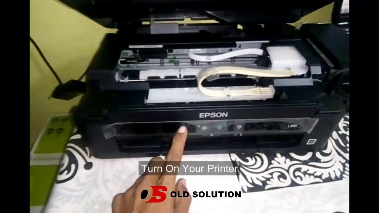 Epson l380 all-in-one ink tank printer - installation