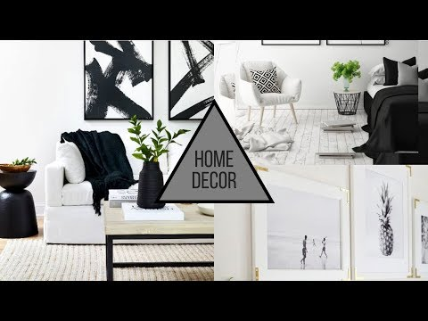 2019 Home Decorating Trends - Black & White Decor