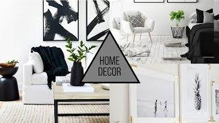 2019 Home Decorating Trends   Black & White Decor
