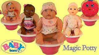 Baby Born Magic Potty Baby Annabell Missy Kissy Baby Alive Baby Dolls Potty Training Time