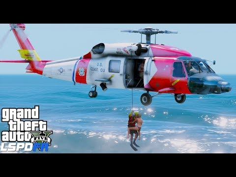 GTA 5 Coastal Callouts Helicopter, Boat Rescues & Maritime Law Enforcement Realistic Coast Guard Mod